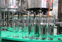 玻璃瓶三旋蓋酸梅汁灌裝機(果汁三合一灌裝機)